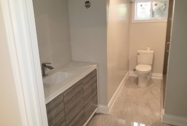 Renovated basement washroom