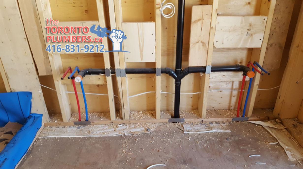 Double sink plumbing rough in
