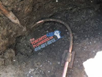 Water Service Connected To The City Pipe In Toronto
