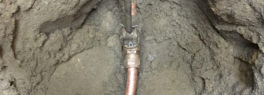 Underground water service upgrade in East York