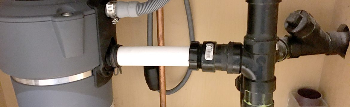 Kitchen sink and food disposer drain connection