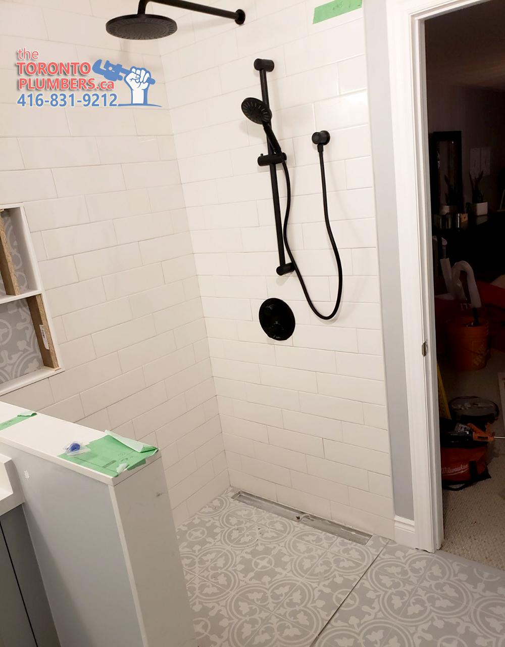 Shower renovation in Toronto